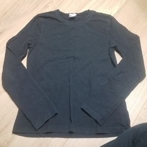 🆕️ OLD NAVY Black Waffle Knit Thermal Long Sleeve